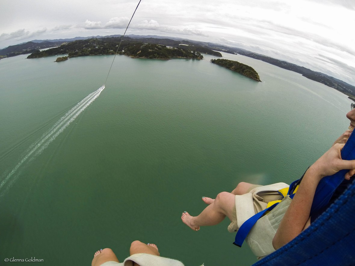 Parasailing, Bay of Islands, New Zealand