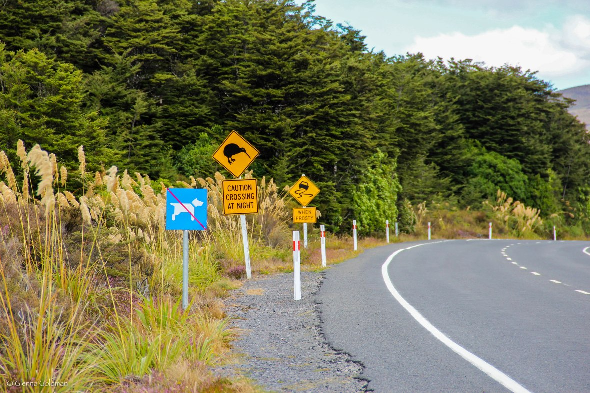 Tongariro National Park, New Zealand, Kiwi sign