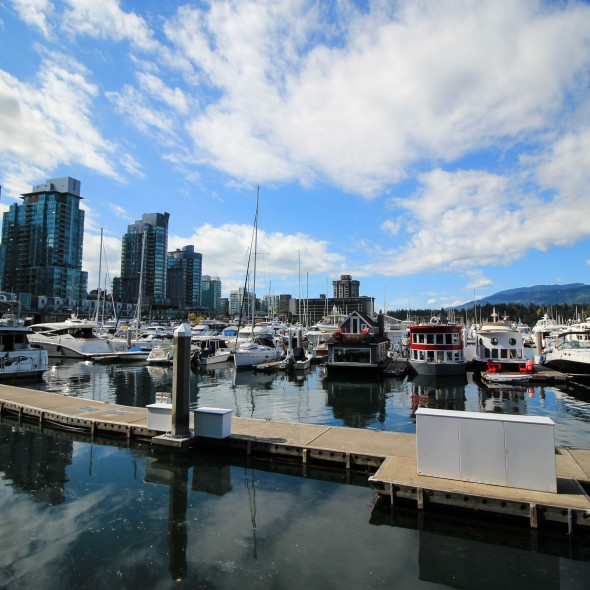 Vancouver Harbor with houseboats