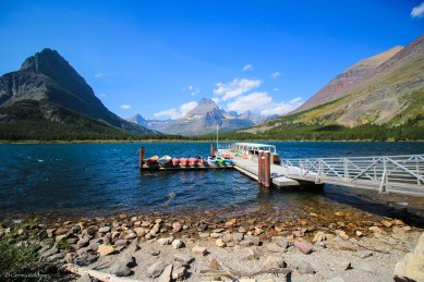 Many Glacier boat ramp