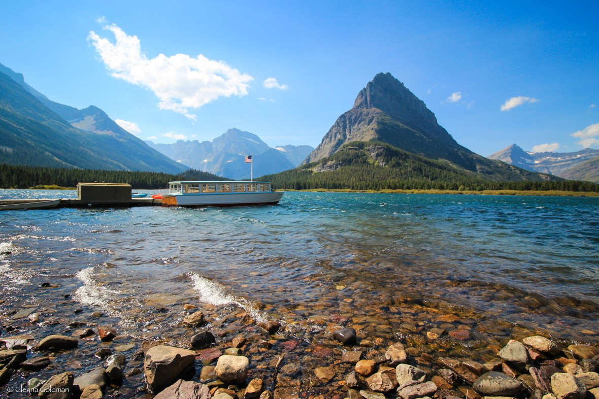 Many Glacier boats, Glacier National Park, Montana