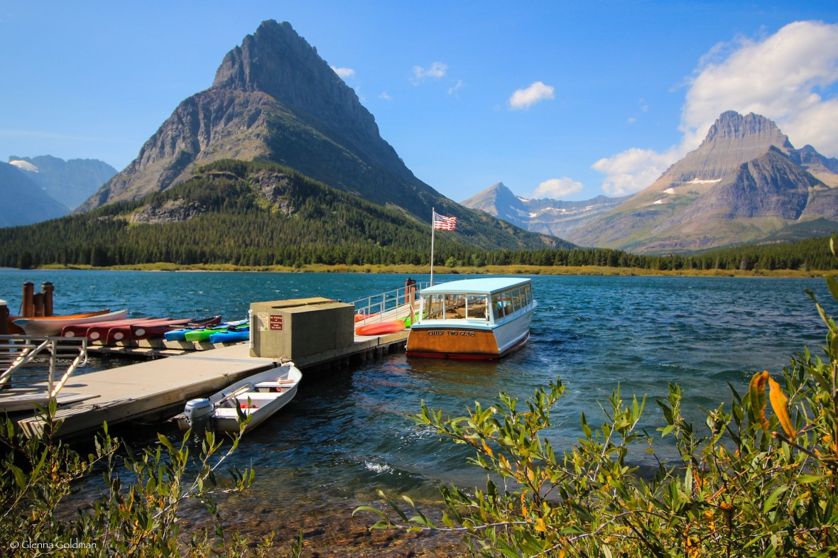 Many Glacier boat ramp, Glacier National Park, Montana