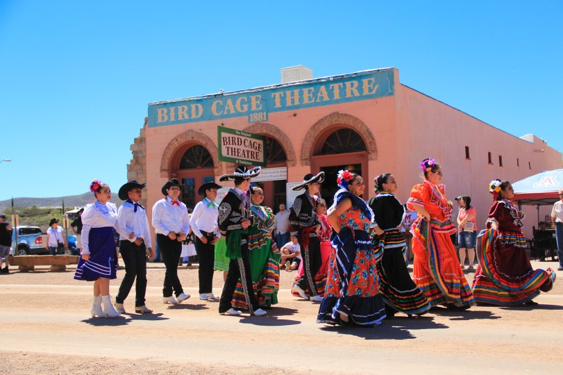 Tombstone Parade Hispanic Dancers