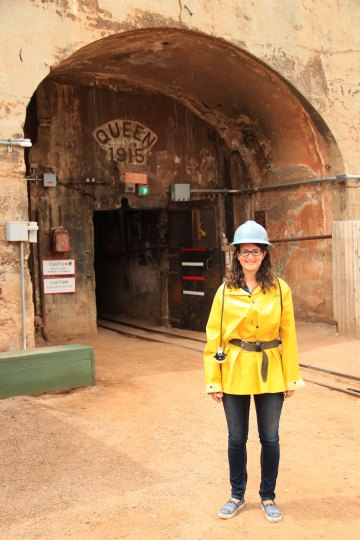 Bisbee Queen Mine Tour Yellow Coat