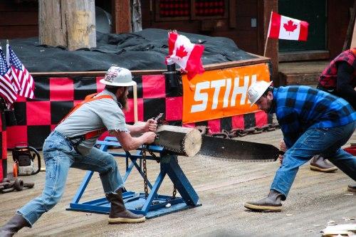 Lumberjack Show Ketchikan Saw Alaskan Cruise