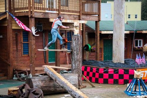 Lumberjack Show Ketchikan Axe