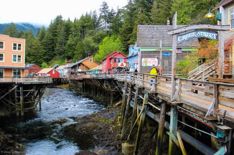 Creek Street Ketchikan Alaskan Cruise Port
