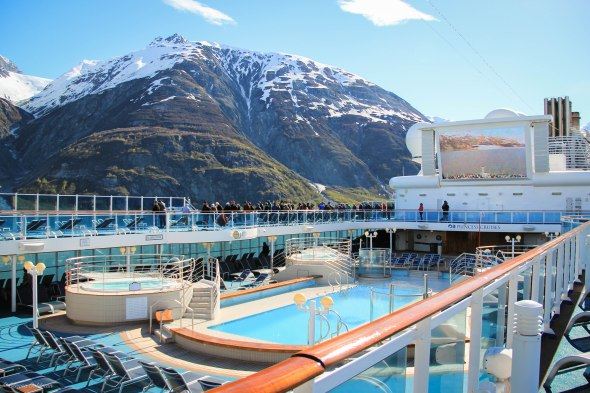 Princess Alaskan Cruise Ship Scenic Cruising