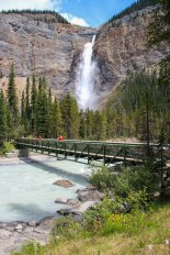 Takakkaw Falls Bridge Yoho National Park