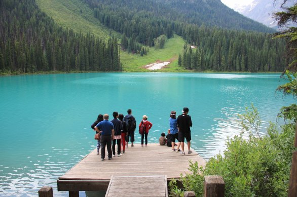 Emerald Lake Dock Yoho National Park