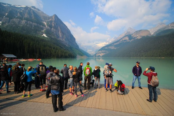 Lake Louise Crowds
