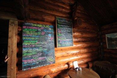 Lake Agnes Teahouse Menu