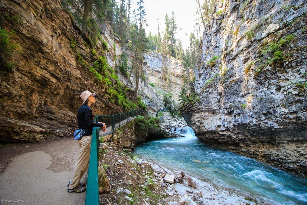 Johnston Canyon Cliff Banff