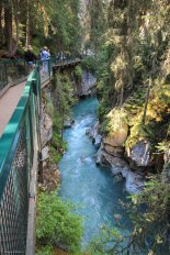 Johnston Canyon gorge Banff