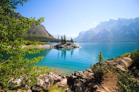 Lake Minnewanka island Banff