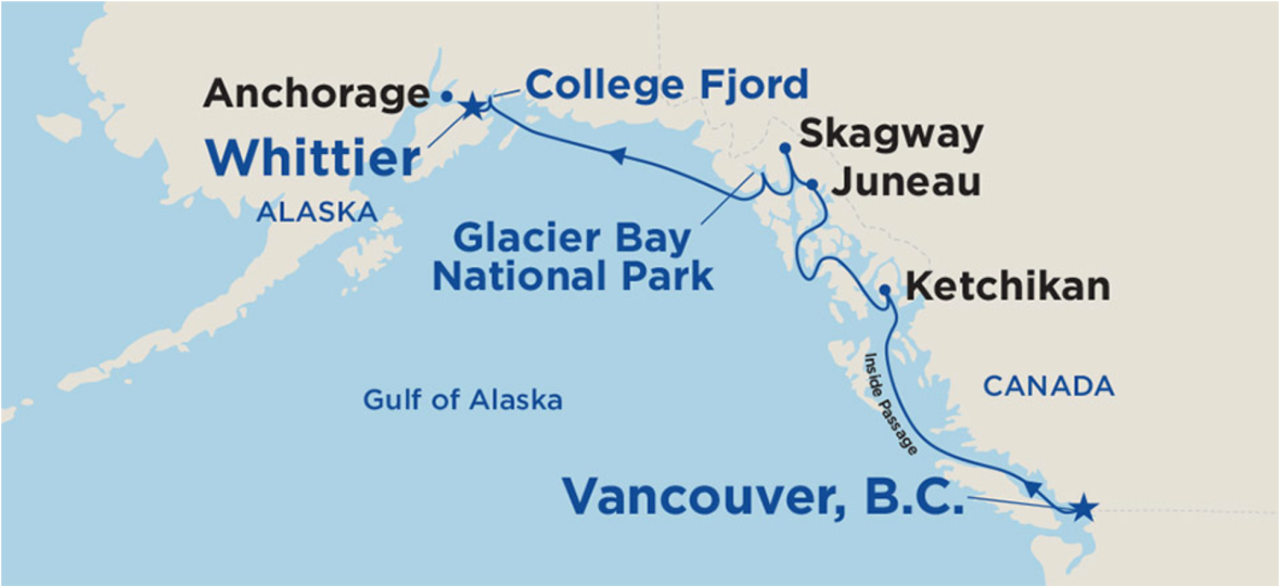 Princess Alaska Cruise Vancouver to Anchorage