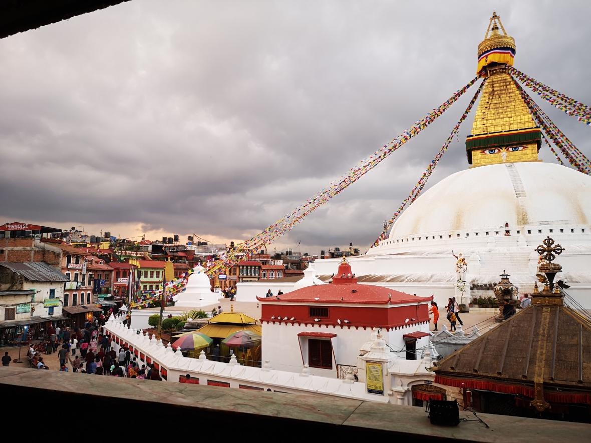 Boudhanath Stupa Side