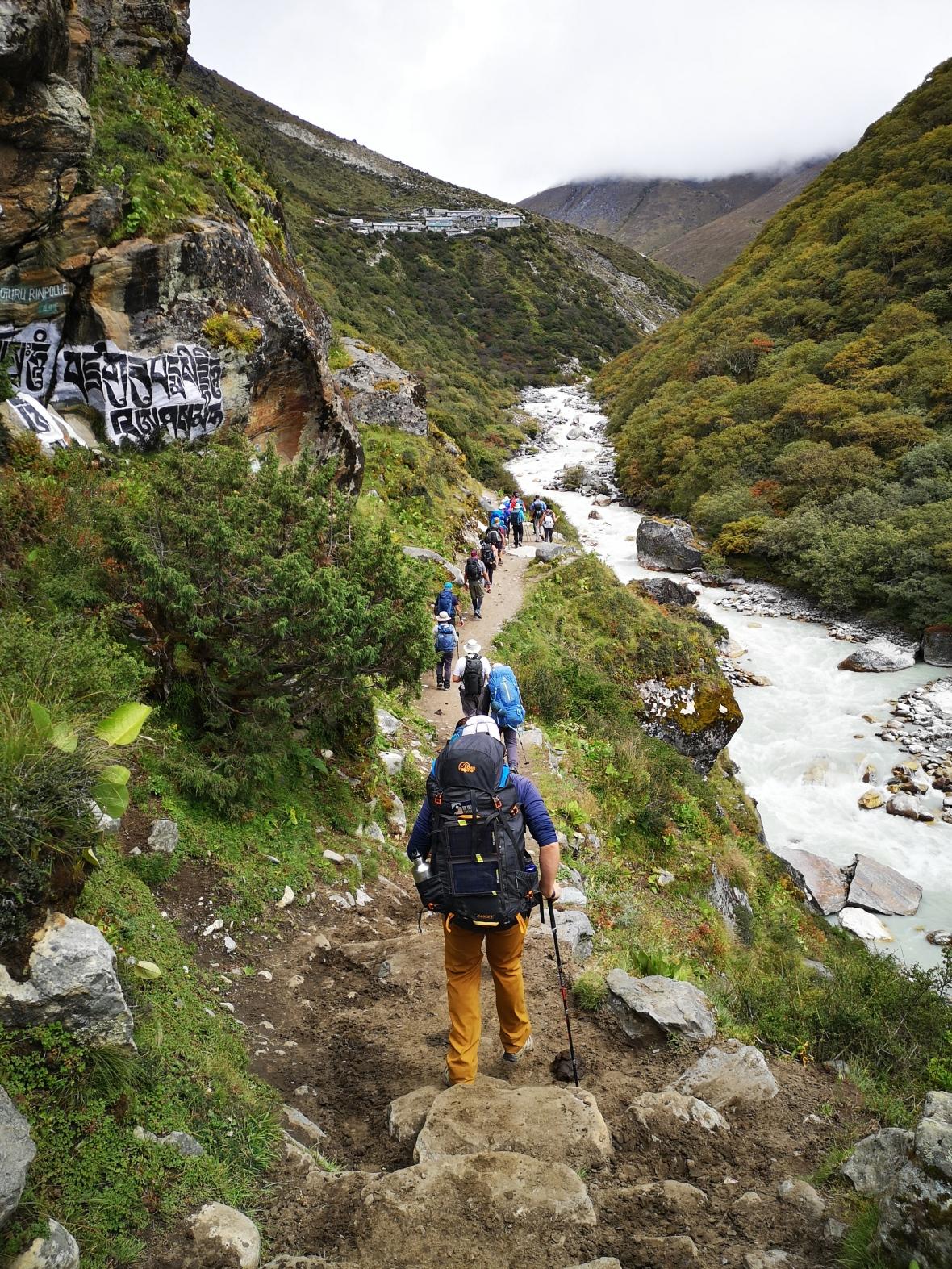 Everest Hike Crowd